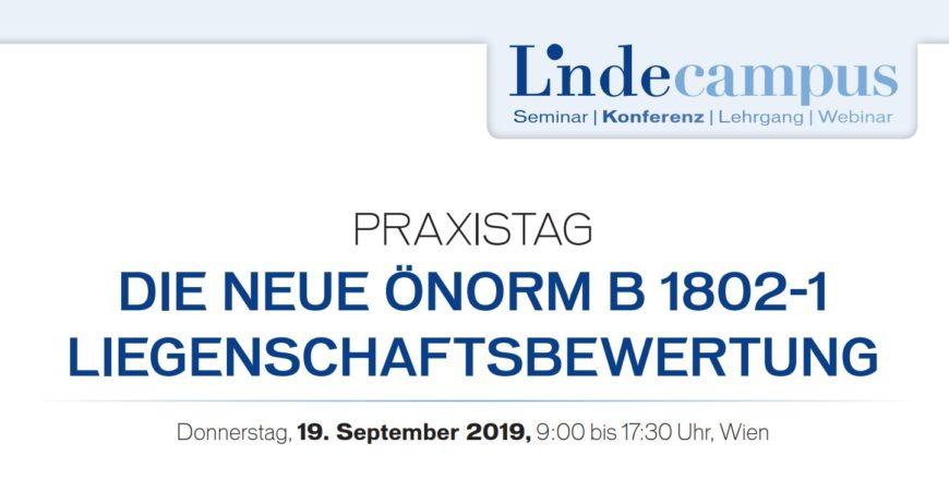 ÖNORM B 1802-1 Liegenschaftsbewertung Grundlagen