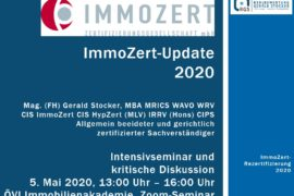 ImmoZert Update 2020 Gerald Stocker