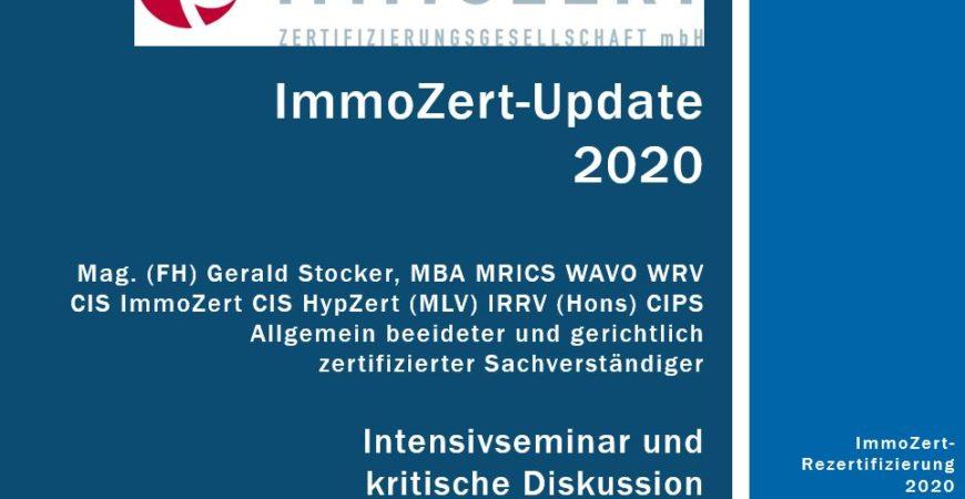 ImmoZert Update 2020 Gerald Stocker
