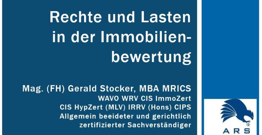 Rechte und Lasten in der Immobilienbewertung Juni 2020 Realbewertung Gerald Stocker