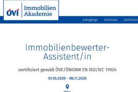 Vorbereitungslehrgang Immobilienbewerter-Assistent