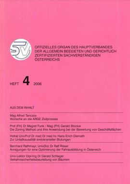 Deckblatt Zoning Method Realbewertung Gerald Stocker