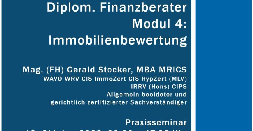 Raiffeisen Campus Immobilienbewertung Realbewertung Gerald Stocker