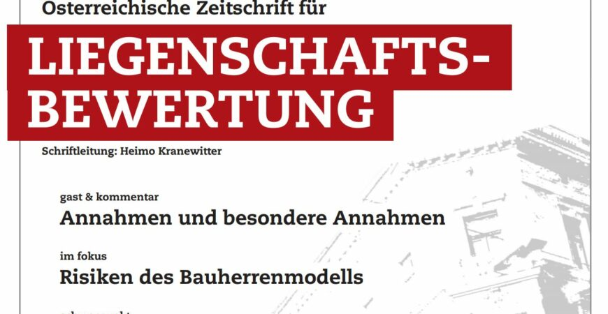 ZLB Stocker Annahmen und besondere Annahmen Realbewertung Gerald Stocker Deckblatt